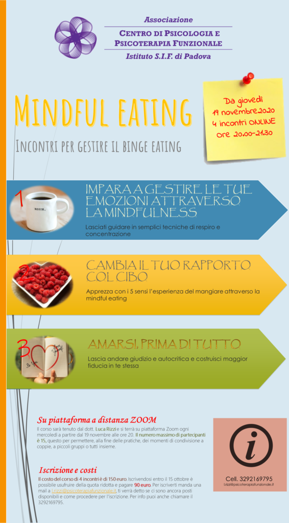 volantino corso binge eating